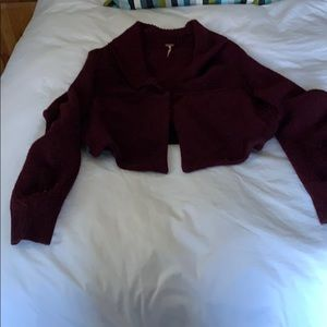 Free People wool cardigan